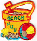 BEACH FUN VACATION BEACH TRIP IRON ON EMBROIDERED PATCH