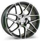 4pcs set 19 Ace Alloy Wheels Mesh 7 Mica Gray with Machined Rims