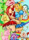 sexy rainbow brite & strawberry shortcake painting lesbian pop art by PAPA