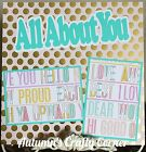 ALL ABOUT YOU Basic Premade Scrapbook Page 12x12 Layout for Album 2279