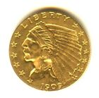 1909 Quarter Eagle High Grade MS+ $2.50 Indian Philadelphia Mint
