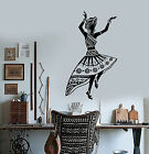 Vinyl Wall Decal African Woman Dancer Native Turban Girl Stickers 1483ig