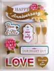 Happy Anniversary Our Night Out Champagne Forever In Love RC 3D Stickers