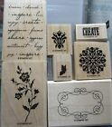 Stampin Up Charming Retired Create Vintage Flowers Good for Mixed Media