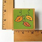 Cookie Scrap Rubber Stamp Fall Leaves Autumn NEW