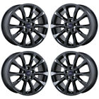 17 FORD FUSION BLACK CHROME WHEELS RIM FACTORY OEM 2017 2018 SET 10119 EXCHANGE