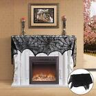 Halloween Cobweb Fireplace Scarf Lace Spiderweb Mantle Cover Party Decoration US