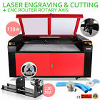 130w Co2 Laser Engraving Cnc Rotary Axis Cutter Air Assist Engraver Cutting kit