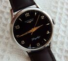 1952 LONGINES FLAGSHIP BLACK DIAL 35MM STAINLESS STEEL CASE MANUAL WIND SERVICED
