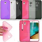 For Vodafone Smart Phones - S Line Gel Case Silicone Clear Cover + Touch Stylus