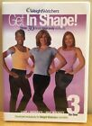 Weight Watchers DVD Get in Shape 3 on One Light Moderate Intense Exercise SEALED