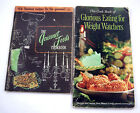 Lot 2 Vintage The Gourmet Foods Cookbook  Glorious Eating For Weight Watchers