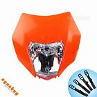 Motorcycle Dirt Bike Orange Front Headlight Lamp Fairing For KTM 250 EXC 350 EXC