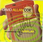 SIGNED DAVID ALLAN COE CD RECOMMENDED FOR AIRPLAY AUTOGRAPHED OUTLAW COUNTRY USA
