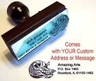 Dragon Face Rubber Stamp With Custom Address Message