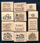 LOADS OF LOVE ACCESSORIES 12 pc SET Pick Up Truck Stampin Up wood Rubber Stamp