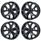 20 DODGE CHARGER CHALLENGER RT BLACK CHROME WHEELS RIMS FACTORY OEM SET 4 2523