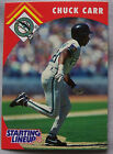 1995 Starting Lineup Chuck Carr Florida Marlins Baseball Card