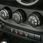 Black Air Conditionner Outlet Vent Guard Triim Cover for Jeep Wrangler 12 15