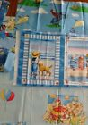 Novelty Fabric Children Baby Quilts Curious George Seaside Bears Red Blue Yel
