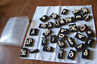 Alphabet Foam Rubber Stamps Capitals and lower case letters + numbers signs