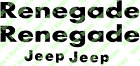 Decals for JEEP Fender and RENEGADE HOOD DECALS for CJ and YJ models