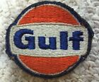 NOS VINTAGE GULF POCKET GAS STATION SHIRT UNIFORM PATCH GASOLINE OIL CAN SIGN