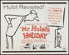 MR HULOTS HOLIDAY VACANCES DE MR HULOT half sheet movie poster 22x28 TATI