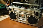 Vintage SANYO M9902-2 AM/FM Stereo Boombox Ghetto Blaster Single Cassette Radio