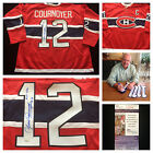Yvan Cournoyer Montreal Canadiens Signed Autograph NHL Hockey Jersey JSA L20688
