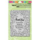 STAMPENDOUS THANK YOU DAISIES CLING RUBBER STAMP CRR264 NEW
