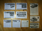 Lot of 10 Instruction Sheets for 1/24 and 1/25 Model Kits :: AMT Monogram Revell