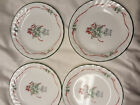 4 Original Corelle Callaway Ivy Holiday Red Ribbons Swirl Bread Plates