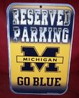 MICHIGAN WOLVERINES GO BLUE RESERVED PARKING 11X17 WINCRAFT PLASTIC SIGN