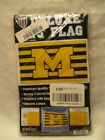 University of Michigan Wolverines Striped Deluxe Flag Banner New 3 x 5