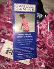 Bone Heads Waffle Thermal Dog Hoodie Size XL Pink Casual Canine