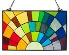 Stained Glass Panel for Window Tiffany Style Suncatchers Decorations Rainbow