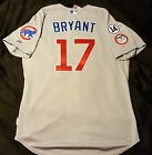 MAJESTIC Authentic SIZE 46 LARGE, Chicago Cubs GRAY KRIS BRYANT Cool Base Jersey