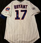 Authentic! Majestic, 52 2XL, CHICAGO CUBS PINSTRIPE, KRIS BRYANT ON FIELD JERSEY