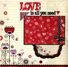 Love Is All You Need Premade Scrapbook Page