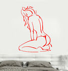 Vinyl Wall Decal Art Sexy Hot Naked Girl Back Thong Stickers 1693ig