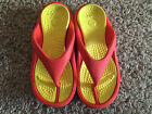 Nice CROCS Orange  Yellow Combo Slip On Thong Flip Flop Sandals M 4 W 6