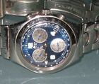Swatch Irony Chronograph AG1999 V8 Stainless Steel Band Blue Dial 4 Jewels