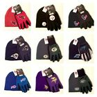 Officially Licensed Cuffless Knit Hat Beanie and Sport Utility Grip Gloves Set