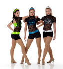 I Wanna Go Dance Costume GREEN SILVER or TURQUOISE Lace Unitard CMCLCXLAXL