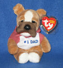 TY DAD 2007 the BULLDOG BEANIE BABY - MINT with MINT TAGS