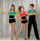Shakedown Dance Costume Biketard and Mitts Acro Jazz Tap Clearance CXS6X7AXL
