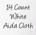 14-Count Aida White Cross Stitch Cloth, Choose Your Size, Bulk Cotton Cloth