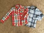 EUC Boys Old Navy long sleeve Button Pearl Snap plaid Western Shirts size s 6 7