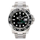 ROLEX GMT MASTER II 116710LN MEN'S PAPERS AUTOMATIC WATCH S/S  BLACK DIAL 40MM